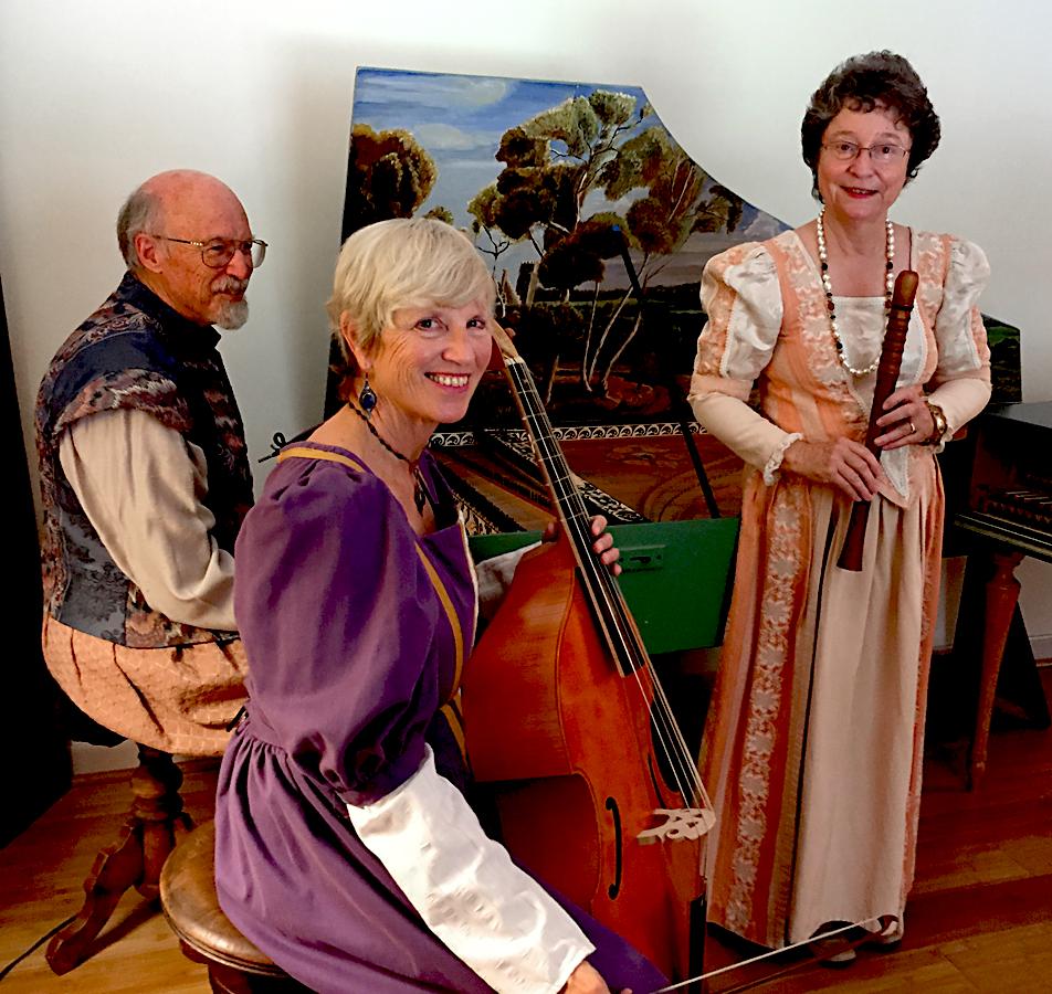 RareSong trio: Peter DeWitt, Marcy Brenner, and Patricia DeWitt
