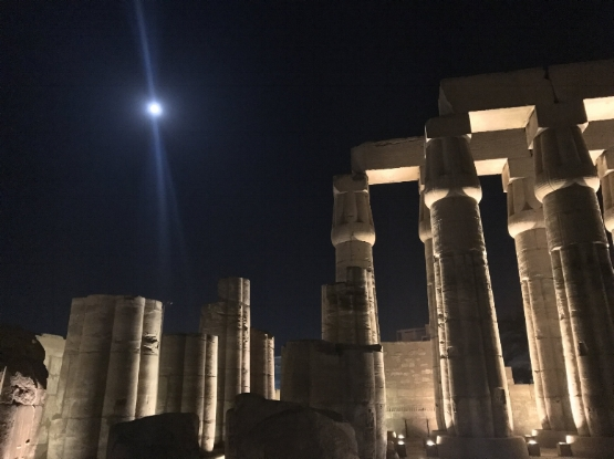 Luxor, Full Moon, March 2017 - Photo taken by Erika Mermuse