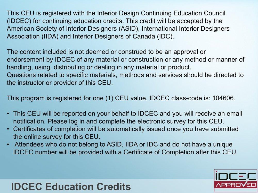 Interior design continuing education