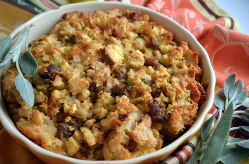 Corn Bread Stuffing via CandyGirlKY.com