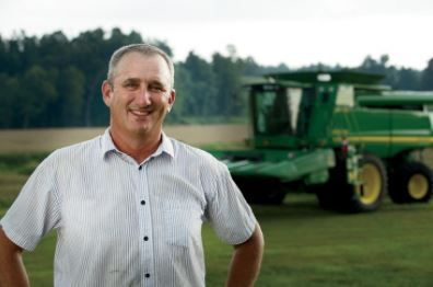 Popcorn grower Brian Hornback participates in the 100 percent Kentucky Proud Popcorn program.