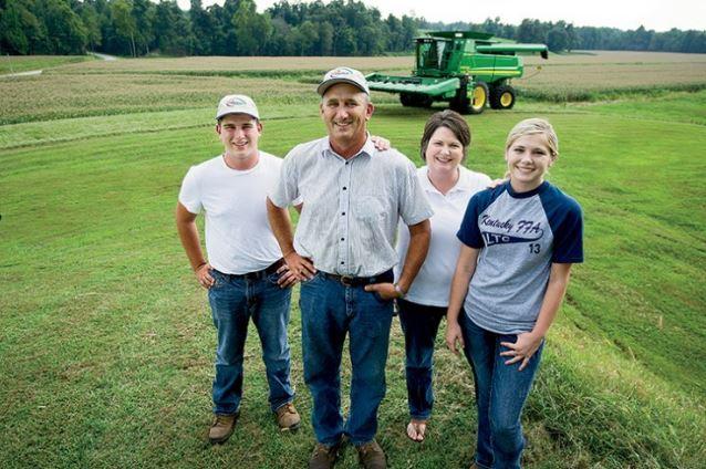 100% Kentucky Proud Popcorn growers, the Hornbacks.