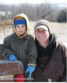 How do family farmers prepare for winter storms?