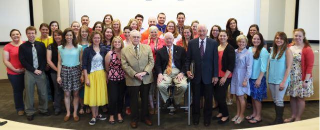 The Kentucky members of the AU Vet Med class of 2016 posed for a photo with members of the first AU Vet Med to graduate under the Kentucky-Auburn agreement.