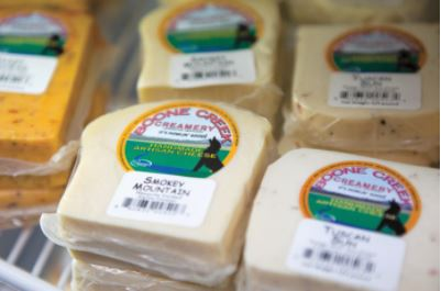 Boone Creek Creamery features a Kentucky Proudretail store that sells a variety of artisan cheeses.