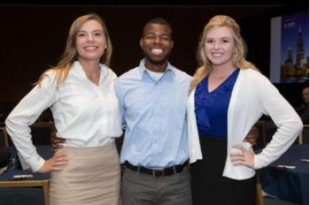 Members of the UK Agricultural Economics' Academic Bowl team are Zoe Gabrielson, Jordan Champion and Erica Rogers. PHOTO: Agricultural and Applied Economics Association