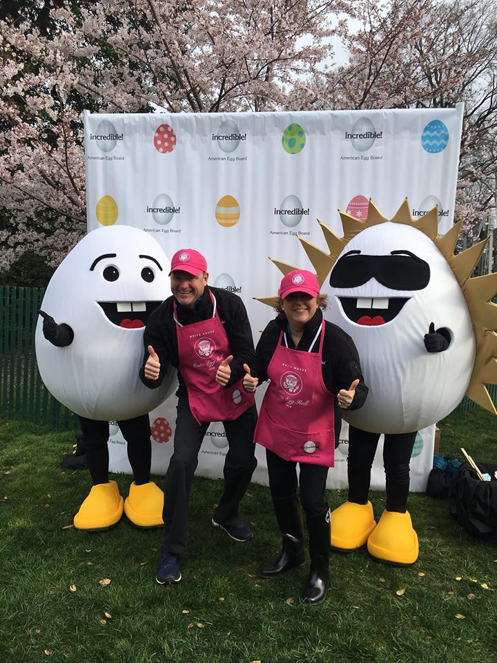 Cassinda represented the American Egg Board at the White House Easter Egg Roll.