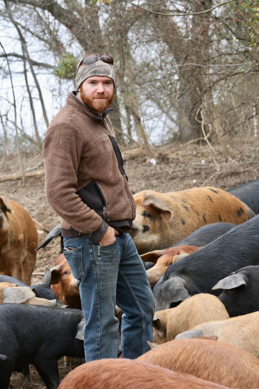 Tyler Green raises hogs on his farm in Garrard County.