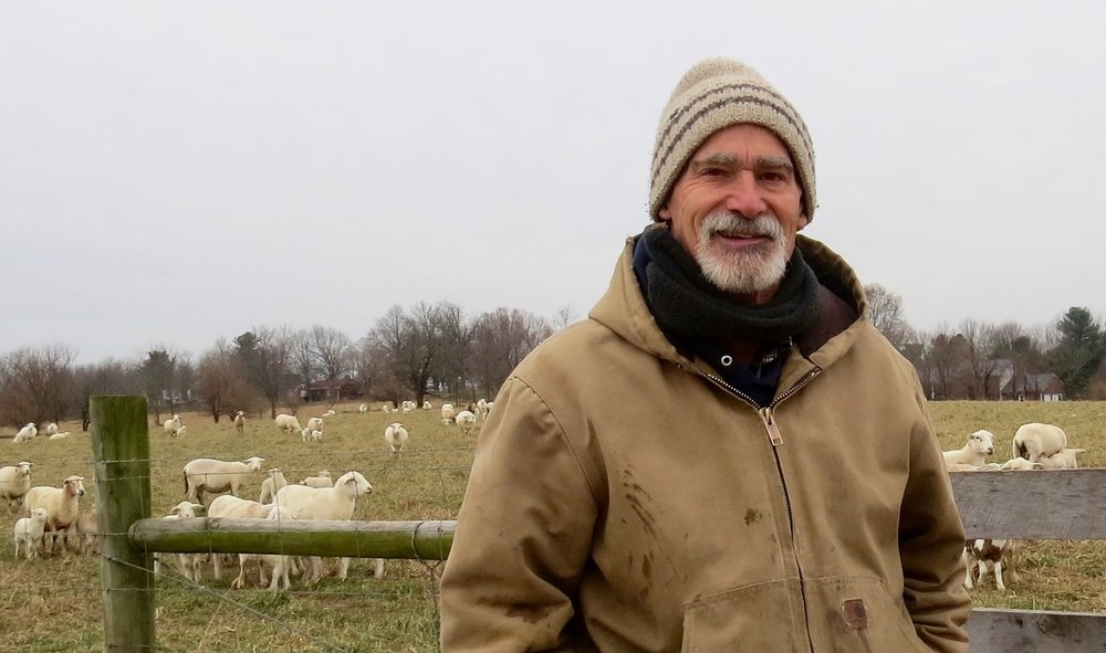 Jim Mansfield markets lambs in his farming operation