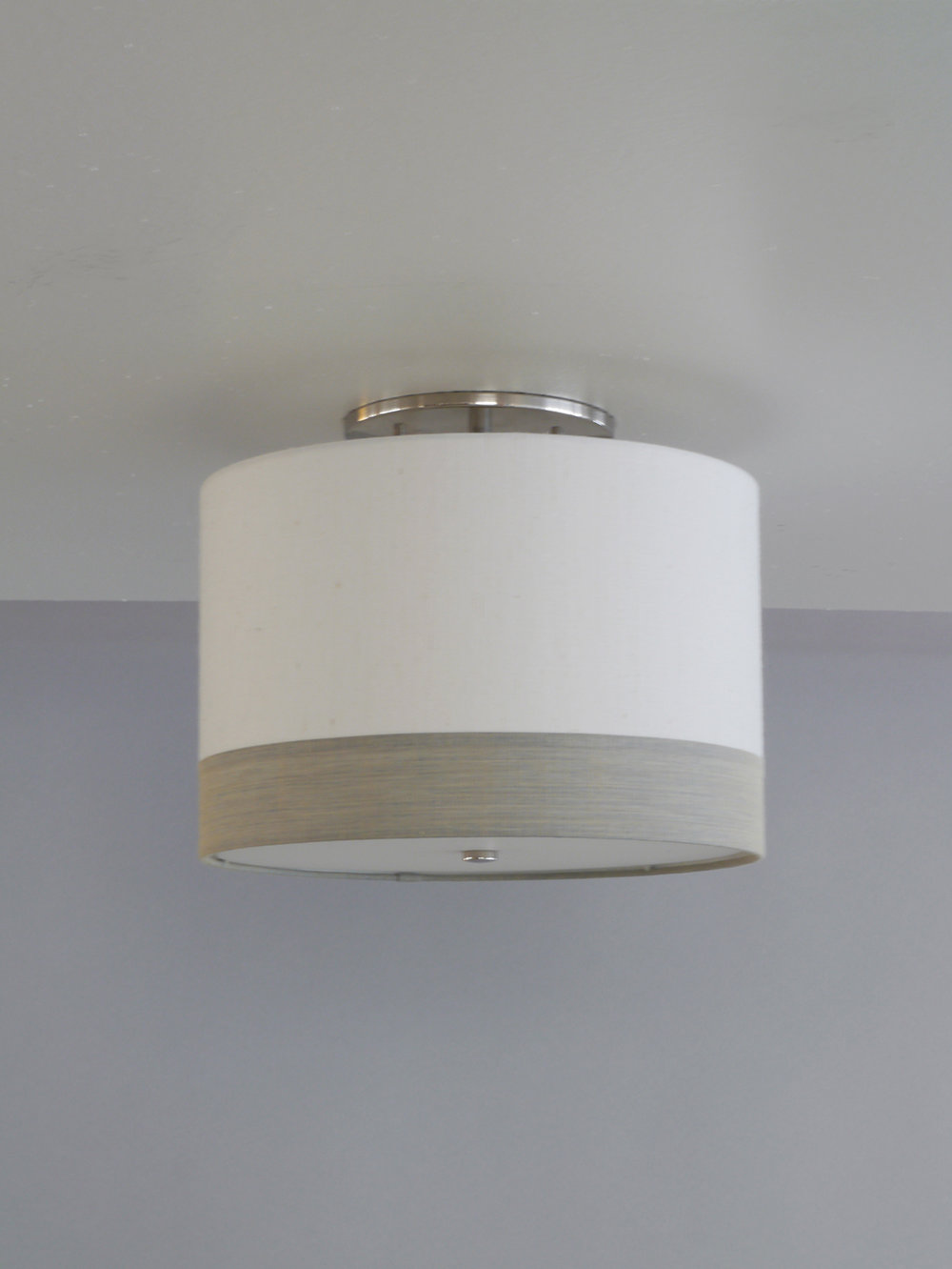 Drums and Boxes_C-198_Ceiling Mounted Striped Drum_Polished Nickel_White with Gray.jpg