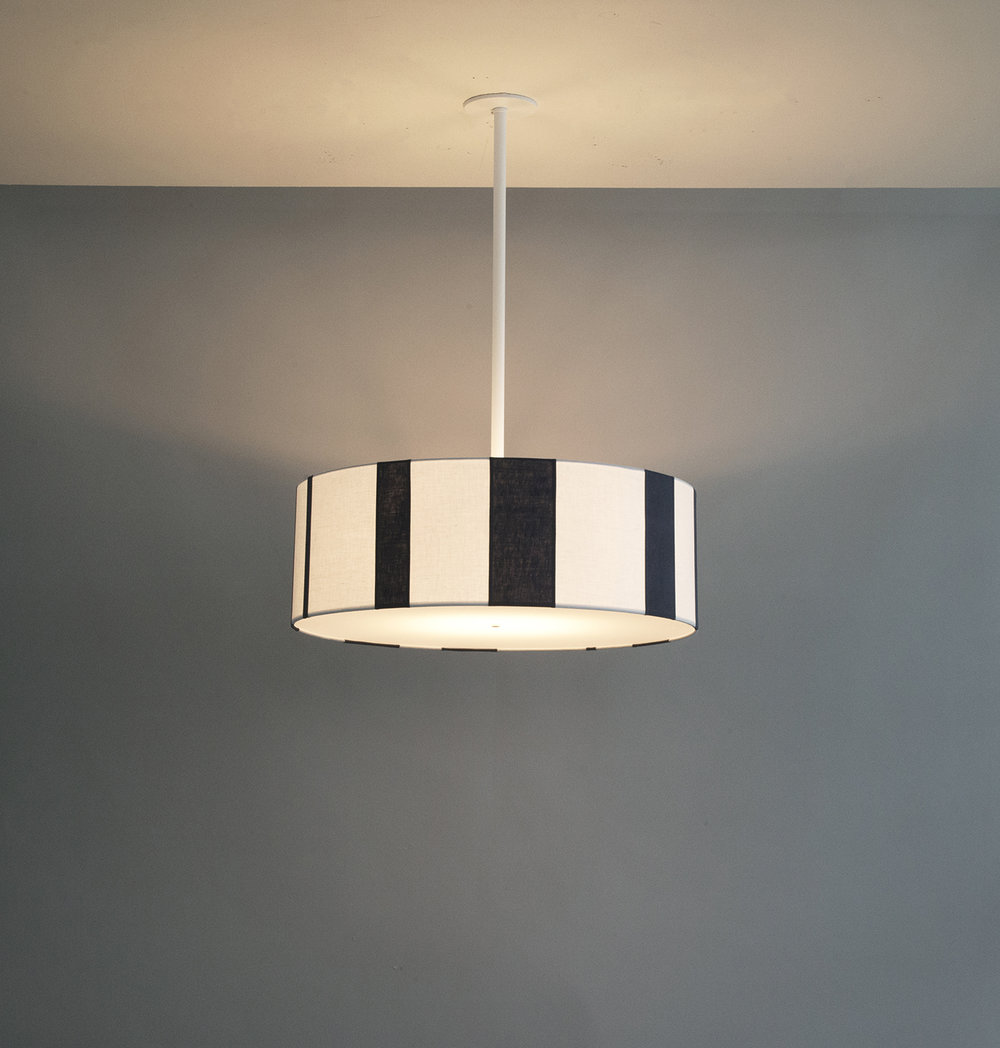 Striped_C-101_Vertical Striped Drum Pendant_White_ Blue and White_on.jpg