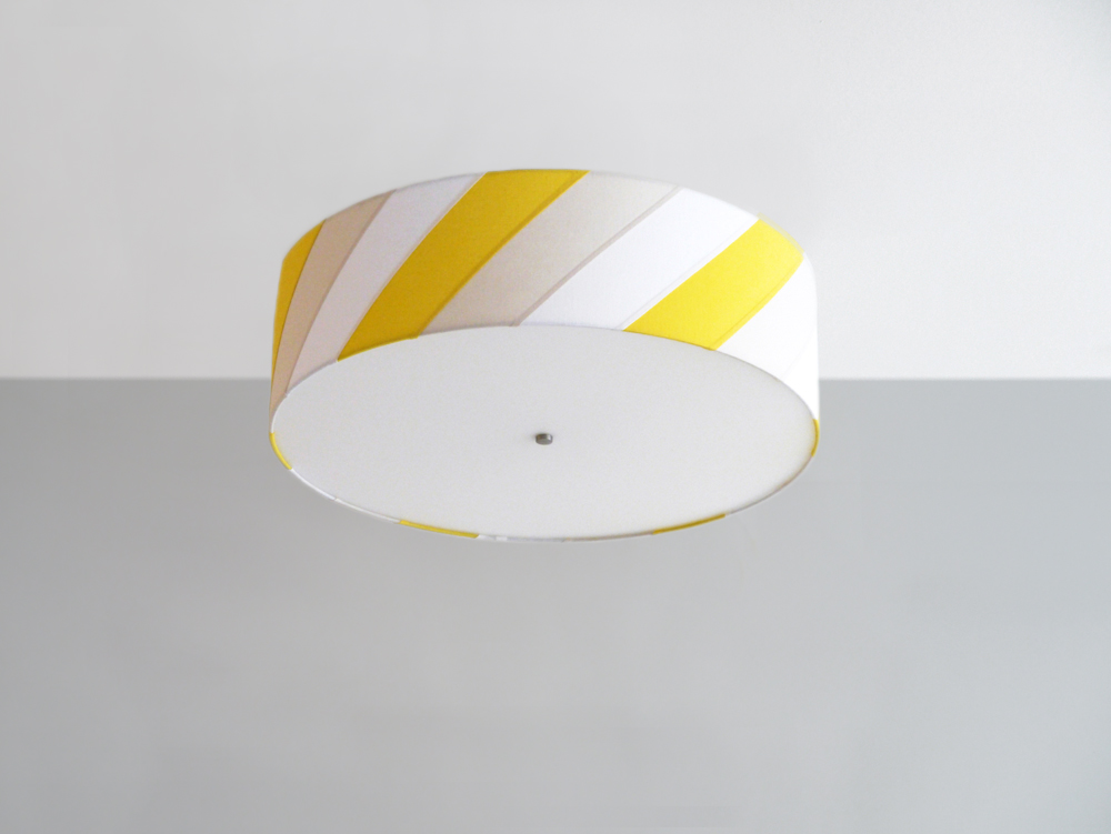 Striped_C-186_Diagonal Striped Ceiling Fixture_Satin Nickel_Yellow, Tan and White.jpg