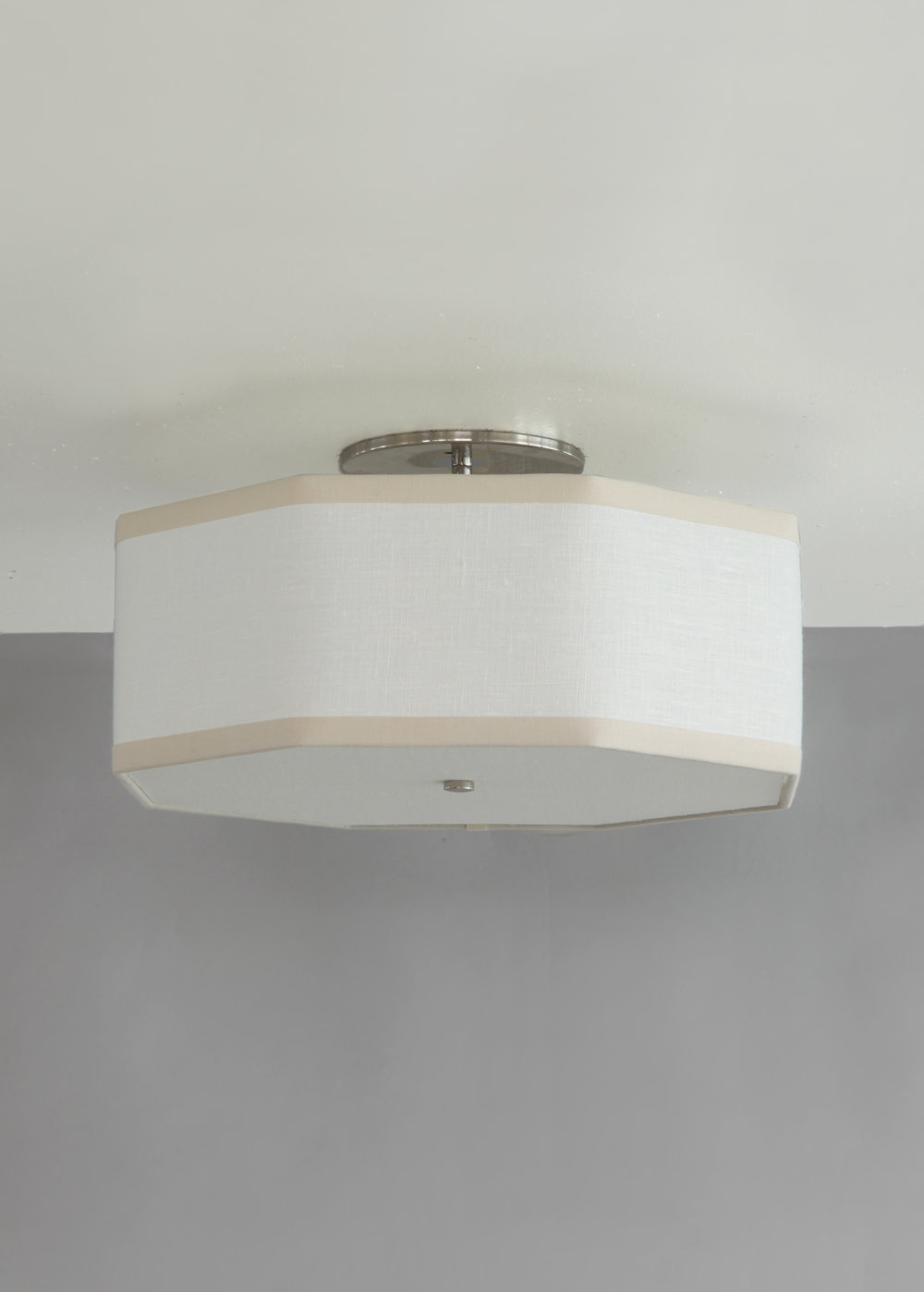 Hexagon + Octagon_C-102_Octagon Ceiling Fixture_Satin Nickel_ White and Tan.jpg
