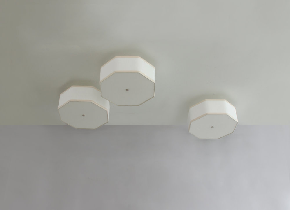 Hexagon + Octagon_C-102_Octagon Ceiling Fixture_Satin Nickel_ White and Tan_cluster.jpg