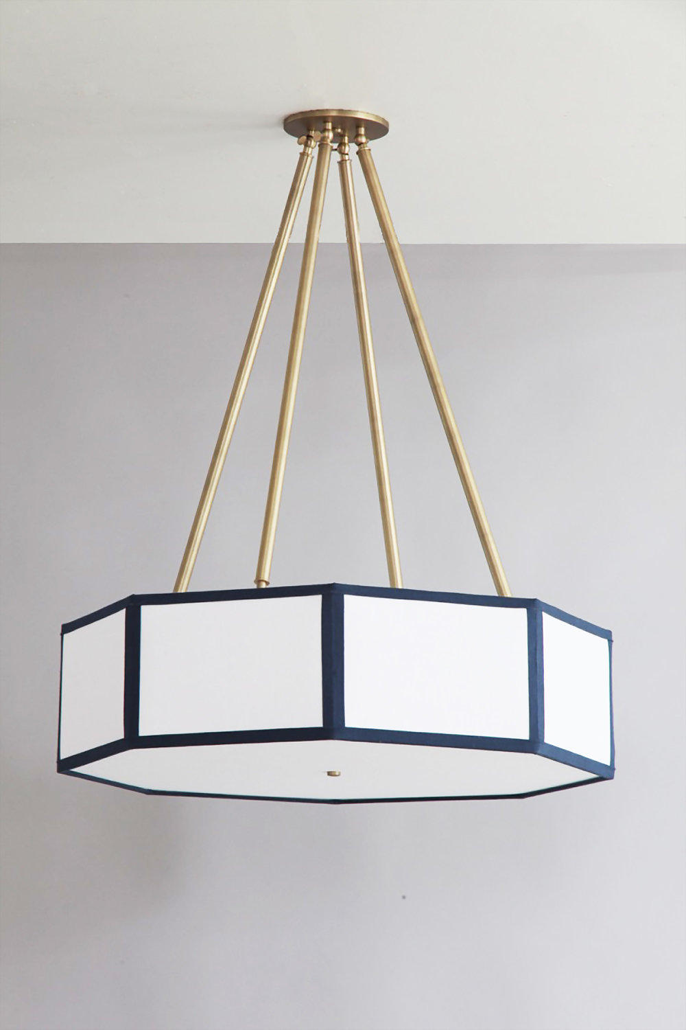 Hexagon + Octagon_C-205_Octagin Lantern Pendant with Four Tapered Stems_Satin Brass_ White and Navy_off.jpg