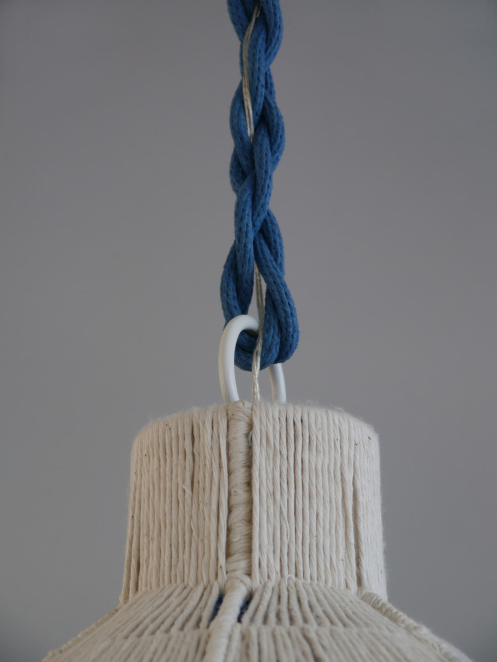 Rope_C-177_Capped Dome Rope Pendant_Cobalt Blue_close up.jpg