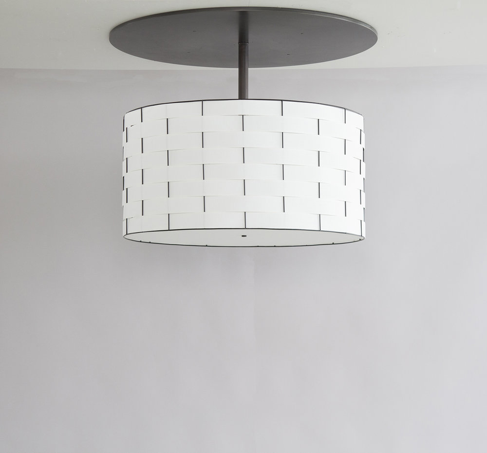 Basket Weave_C-129_Drum Pendant with Large Canopy_black_white_off.jpg