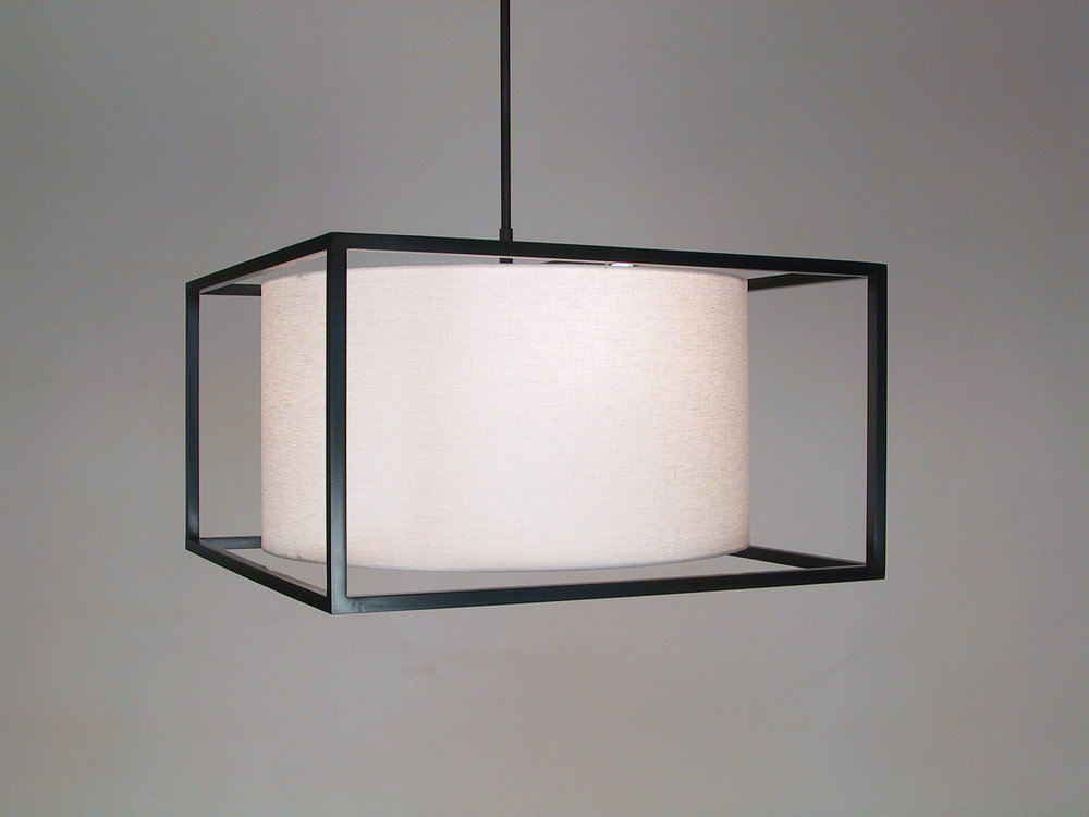 Boxed_C-157_Boxed Flush Mount Ceiling Fixture_Black_White_install.JPG.jpg