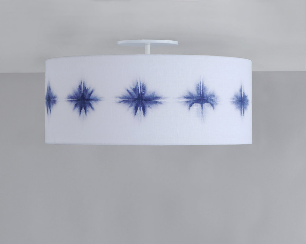 Shibori_C-223_Starburst Wafer Ceiling Fixture_White_Navy.jpg