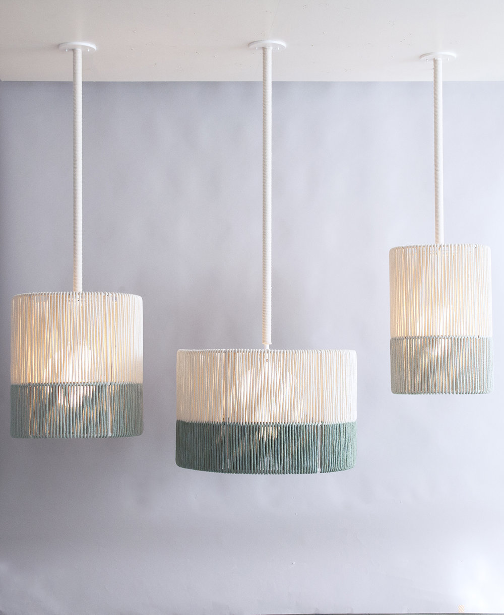 Rope_C-219_Large Rope Drum Pendants_White_Custom Green_White_on.jpg