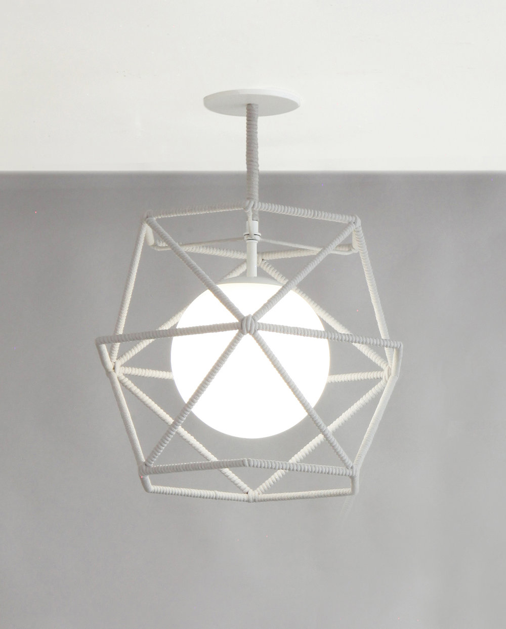 Rope_C-214_Hexagonal Cage Rope Ceiling Fixture_White_Light Grey_on.jpg