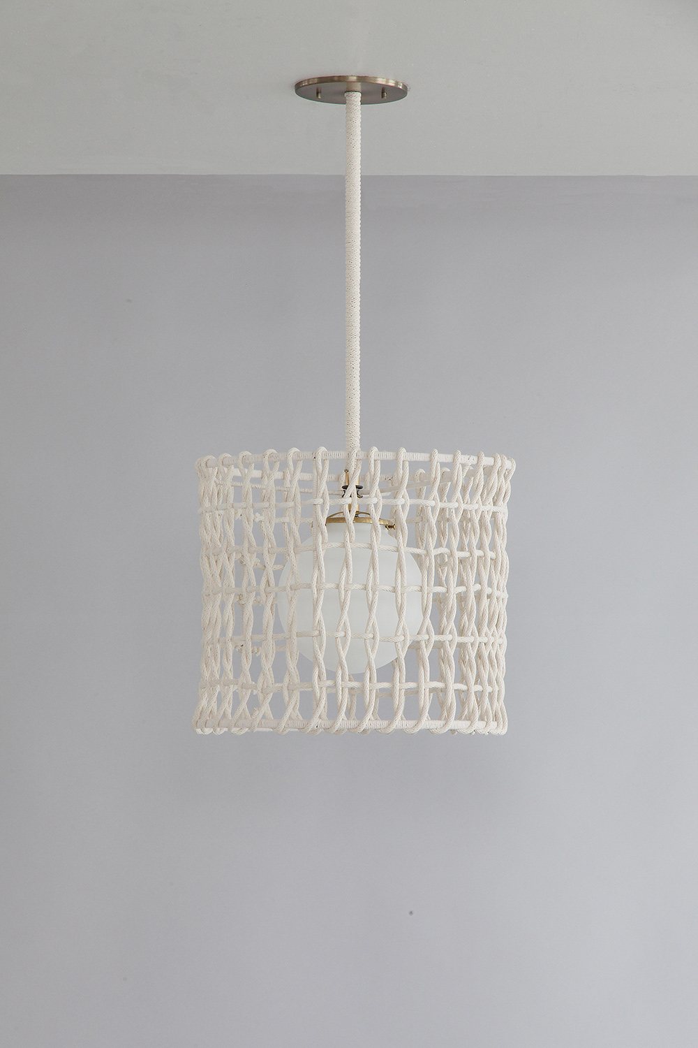 Rope_C-123_Woven Rope Drum Pendant_Satin Brass_White_off.jpg