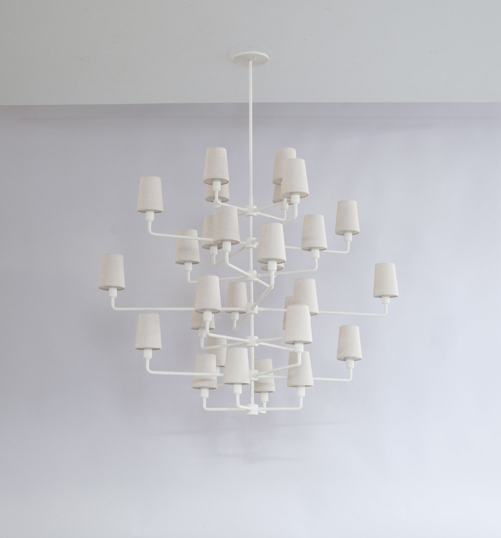 7-Tiered Rope Chandelier C-235