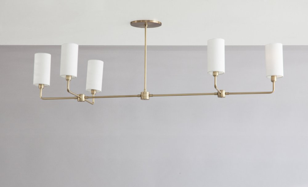 C-206 Linear Suspended Cylinder Chandelier Warm Satin Brass.jpg
