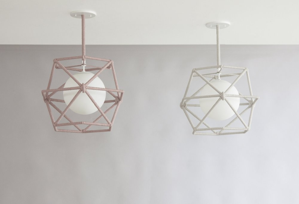 C-214  Hexagonal Cage Rope Ceiling Fixture_Grey_Red_Stems(1).jpg