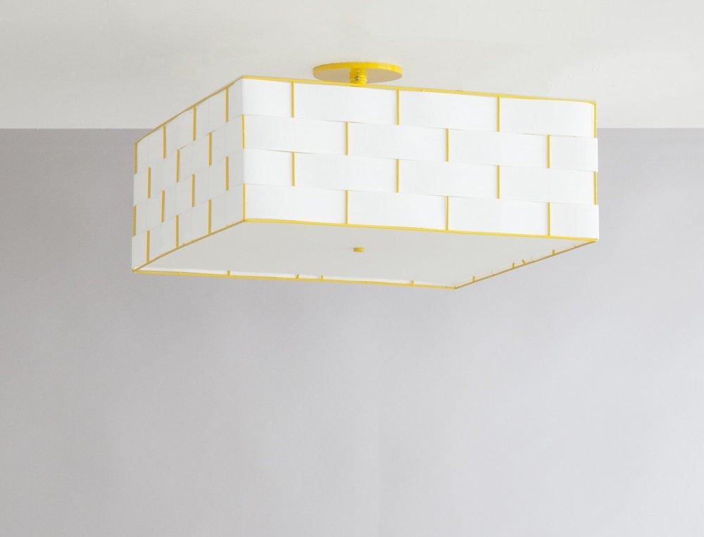 C-166 Basket Weave Ceiling Fixture_Yellow_More Diffuser.jpg