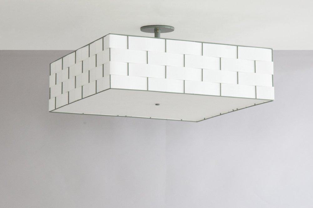 C-166 Basket Weave Ceiling Fixture_Green_More Diffuser.jpg