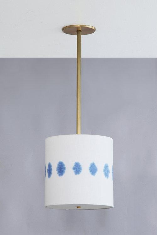 Shibori_C-220_Florette+Drum+Pendant_Satin+Brass_Blue.jpg