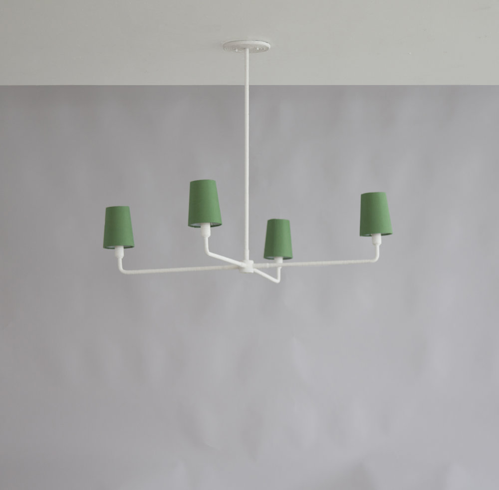 Single Tiered Rope Chandelier - Green Shades.jpg