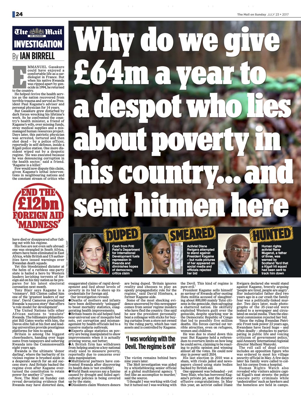 Priti Patel / Mail on Sunday