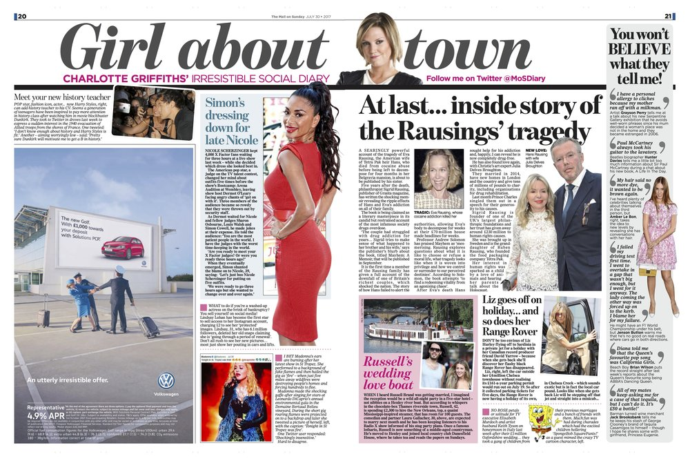 Nicole Scherzinger / Mail on Sunday
