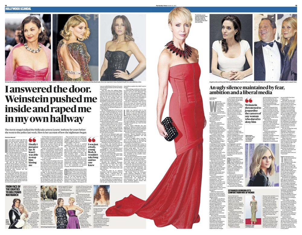Lysette Anthony / Sunday Times main pic
