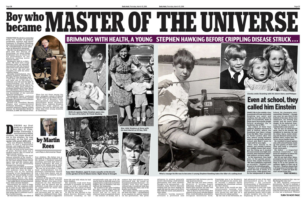 Stephen Hawking / Daily Mail