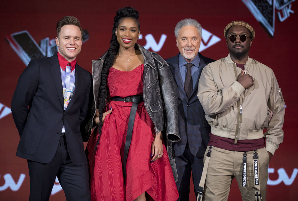 Olly Murs, Jennifer Hudson, Tom Jones and will.i.am