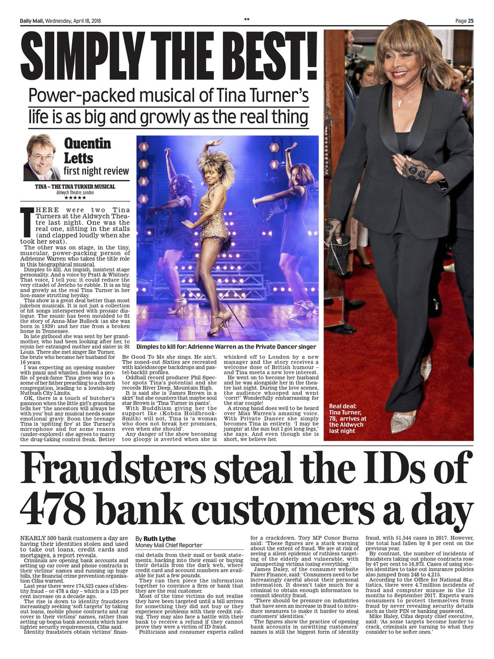 Tina Turner / Daily Mail