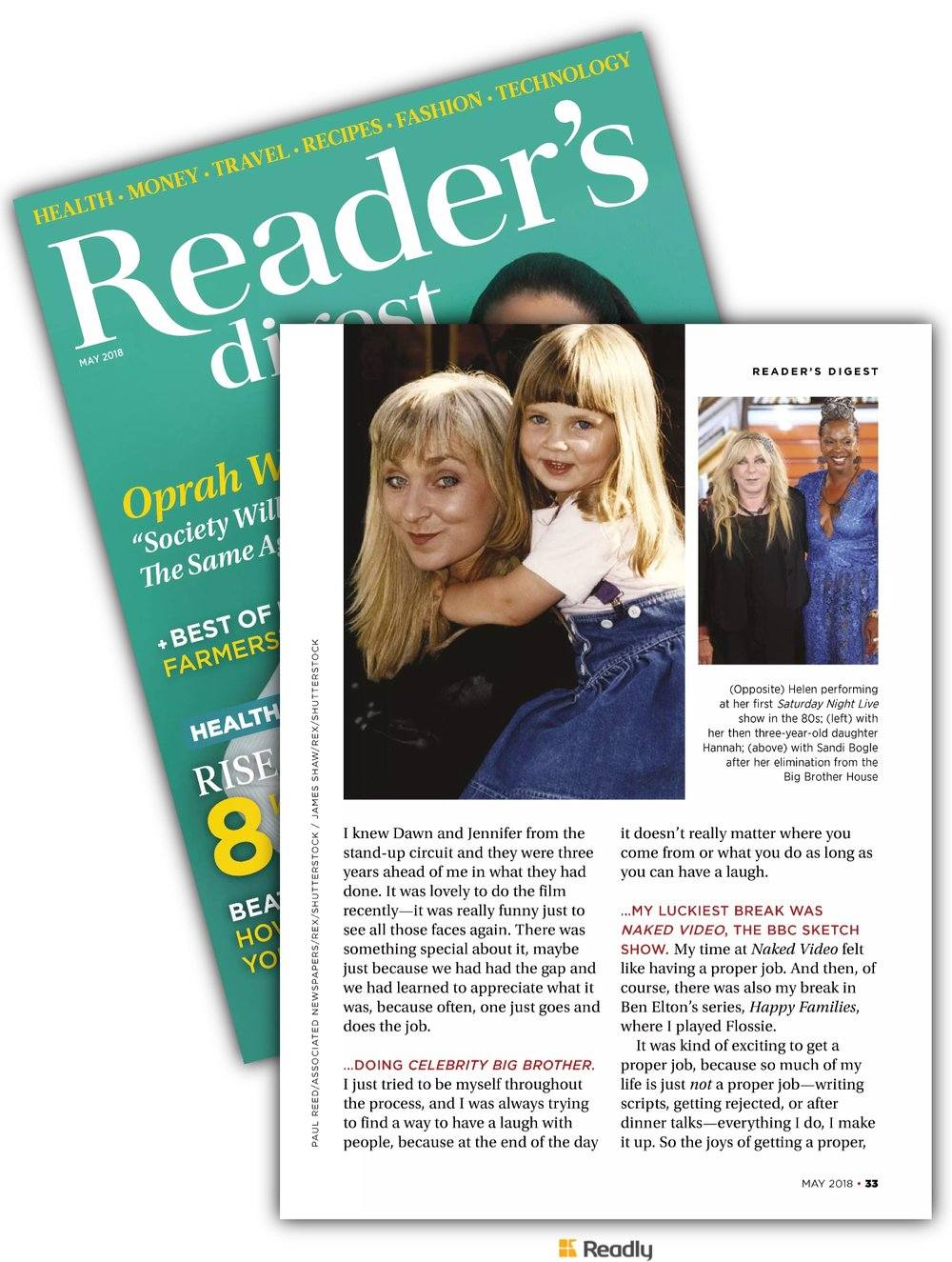Helen Lederer / Readers Digest