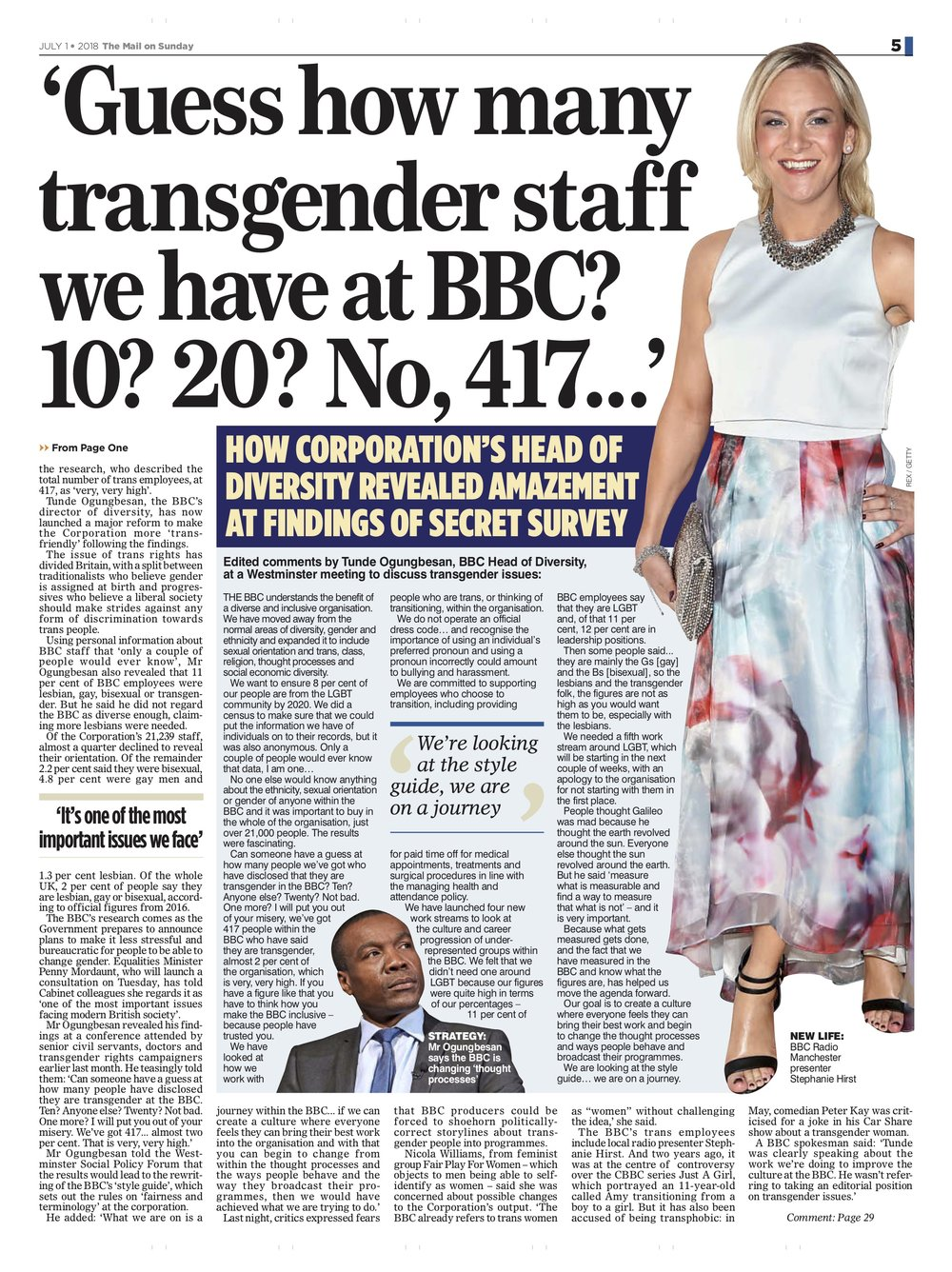 Stephanie Hirst / Mail on Sunday