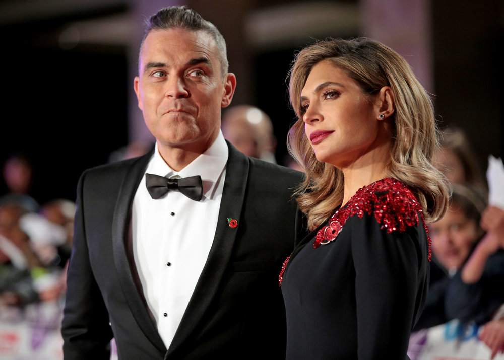 Robbie Williams and Ayda Williams
