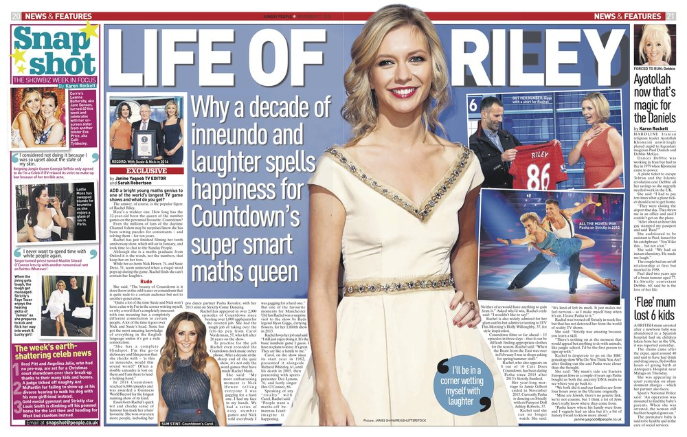 Rachel Riley / Sunday People
