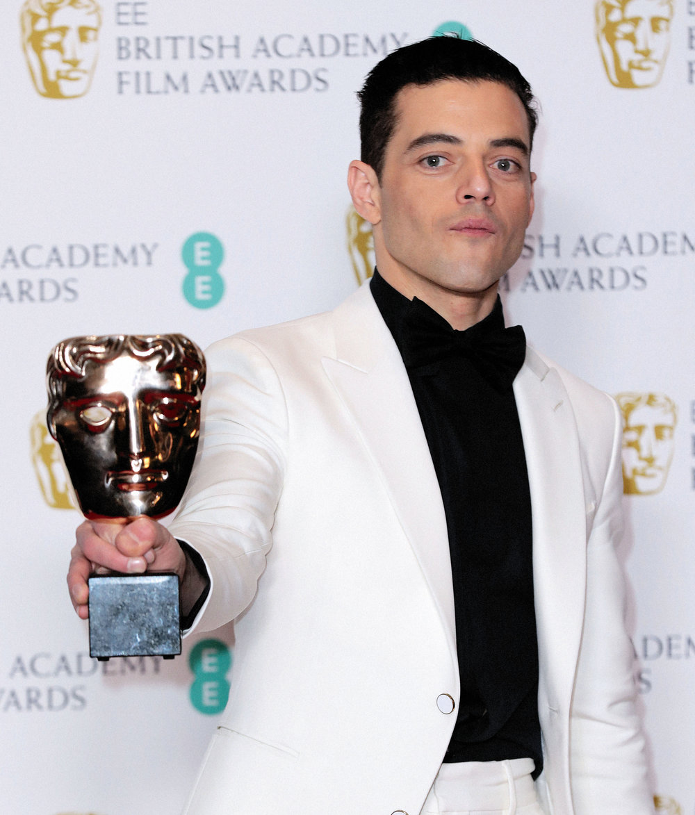 Rami Malek winner of BAFTA for best Leading Actor - 'Bohemian Rhapsody'