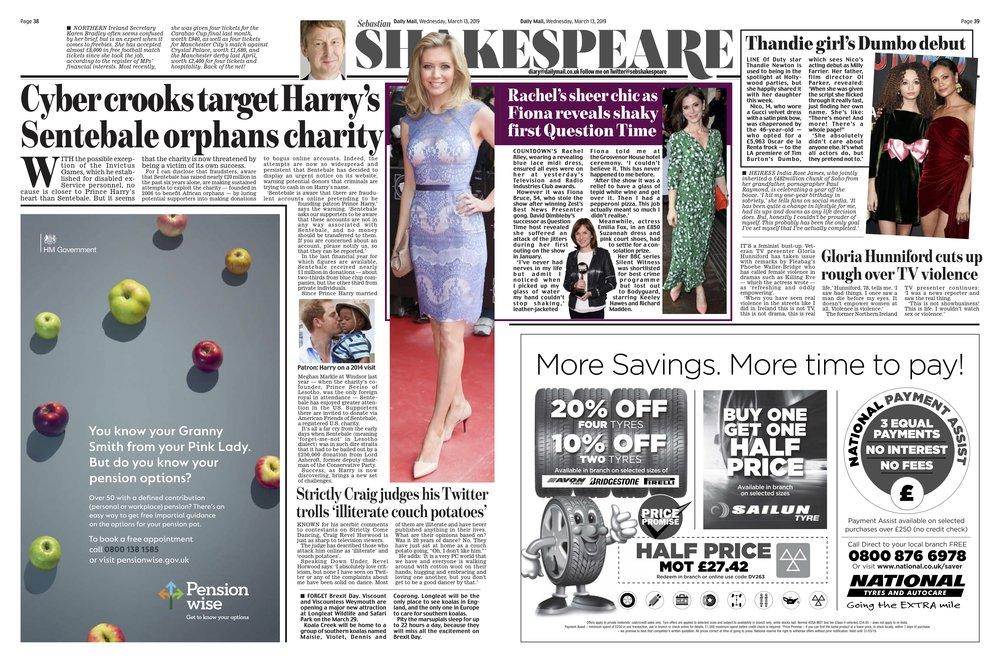 Rachel Riley / Daily Mail
