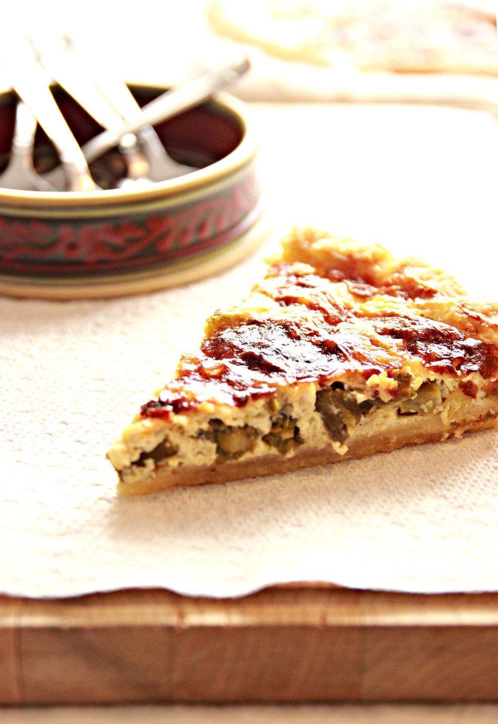 pie asparagus parmigiano