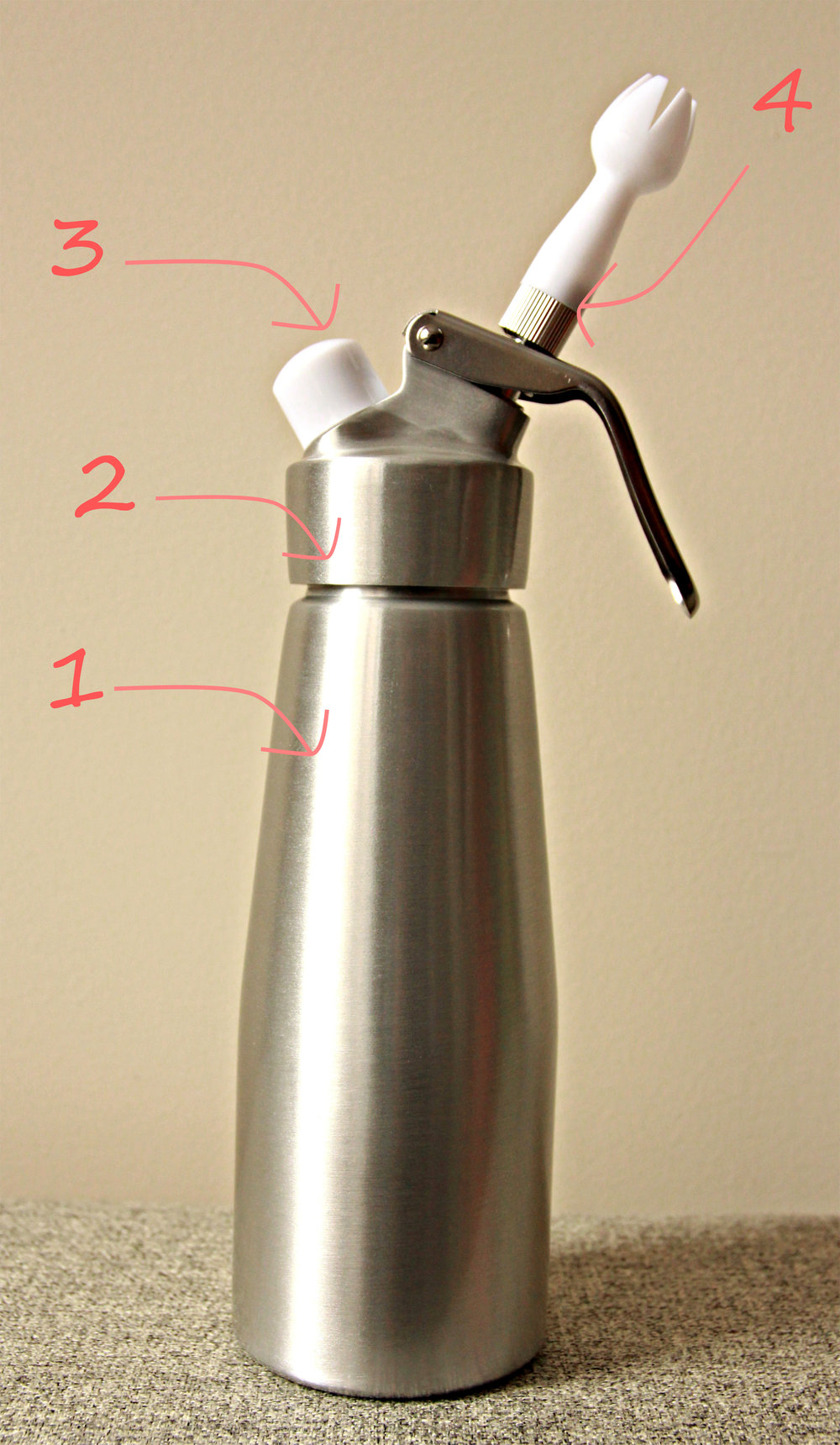 A whipping siphon