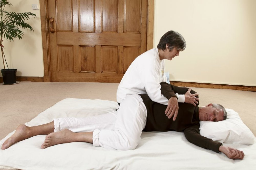 "Shiatsu:    Shiatsu means ""finger pressure"". Shiatsu techniques include massages with fingers, thumbs and palms; assisted stretching; and joint manipulation and mobilization. Shiatsu is a full clothed service, clients are encouraged to wear comfortable loose fitting clothing."