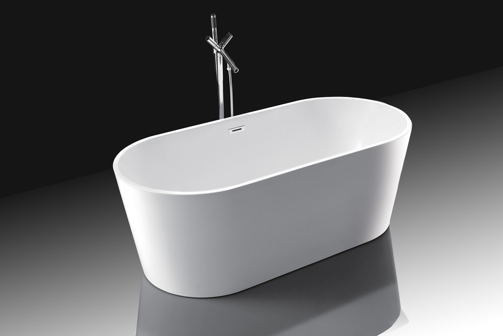 AARHUS - Mäch Bath Modern Oval Shaped Acrylic Freestanding Bathtub ...