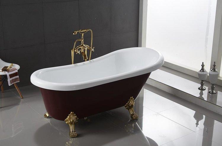 RINGSTED - Mäch Bath Modern Oval Shaped Acrylic Clawfoot ...